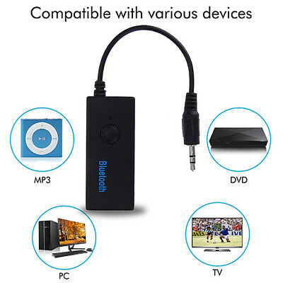 Wireless Bluetooth 3.5mm AUX Audio Stereo Music Home Car Receiver Adapter