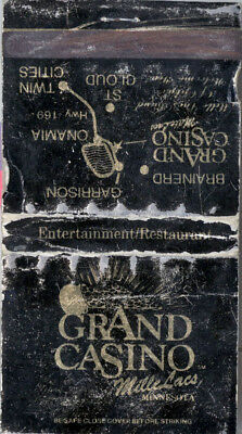 Grand Casino Mille Lacs - Match Book (No Matches)