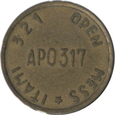 Japan Military Token - 321 Open Mess Itami (5c)