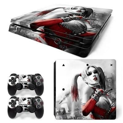 Harley Quinn PS4 Slim vinilo pegatina skins Console Sticker + 2pcs Controller BF