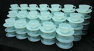 Vintage Fire King Turquoise Blue cup and saucer. Minty Mint   (Many available)