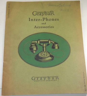1930s booklet catalog GRAYBAR INTER PHONES & ACCESSORIES telephone history