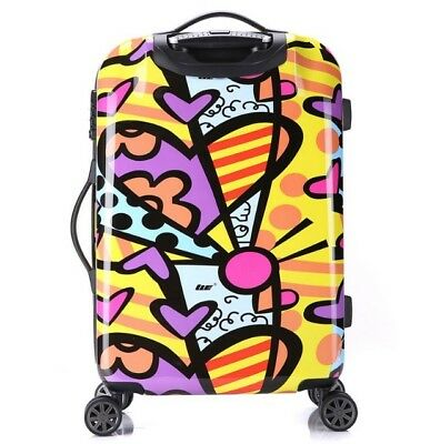 A02 Cartoon Pattern Business Travel Draw Bar Suitcase Luggage 24 Inches W