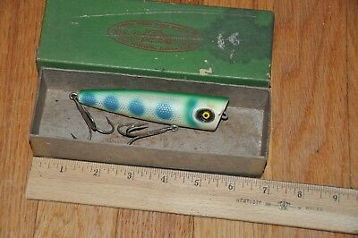 Old Vintage Rare Barracuda Blooper Wooden Fishing Lure In Box