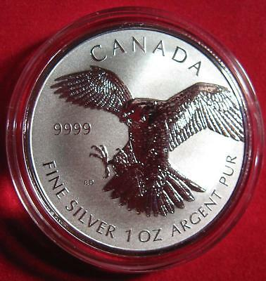 "2014 Canada $5 ""Birds of Prey"" Series Key Coin ""FALCON"" 1oz Silver .9999"