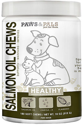 Pure Wild Alaskan Salmon Oil Chews for Dog Omega 3 Pet Diet Natural Supplement