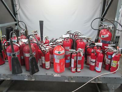 Lot of 53 General Fire Extinguisher, W.D. Allen, Allenco 7400-10 Old Fire Exting