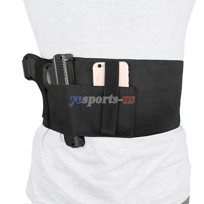 Elastic Belly Band Holster for Concealed Carry with Magazine Pouch Ambidextrous