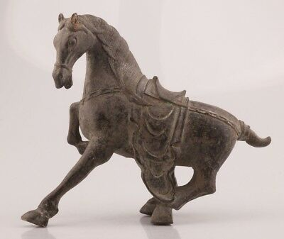 Rare Chinese Bronze Statue Old Horse Mascot Decorated Complete Private Collec
