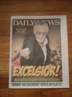 Stan Lee Daily News front page, 11.13.18 Marvel Comics