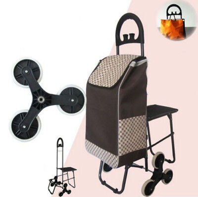 A194 Rugged Aluminium Luggage Trolley Hand Truck Folding Foldable Shopping Cart