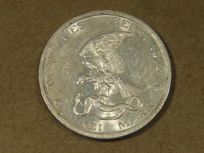 1913 Prussia Germany 3 Drei Mark Silver Coin