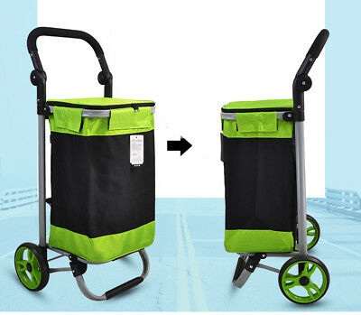 A140 Rugged Aluminium Luggage Trolley Hand Truck Folding Foldable Shopping Cart