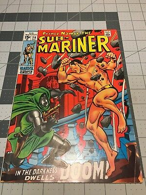 Marvel Sub-Mariner #20 In Vg+ Condition...great Rare Issue ...wow!