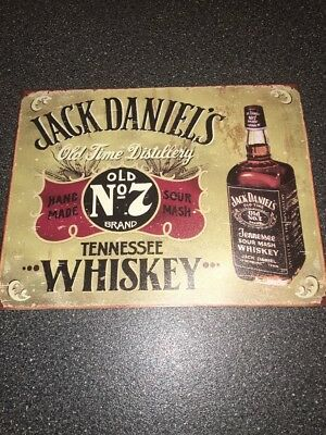 New Jack Daniels Whiskey Metal Tin Bar Sign Liquor Alcohol Mancave Garage Retro