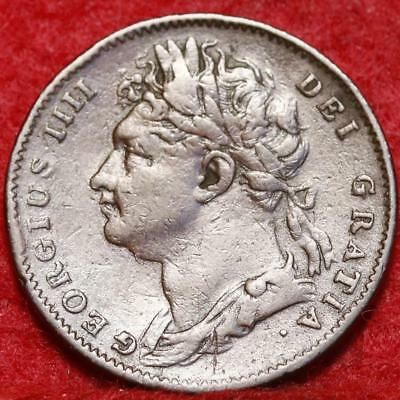1822 Great Britain 1 Farthing Foreign Coin