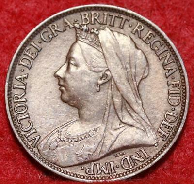1899 Great Britain 1 Farthing Foreign Coin