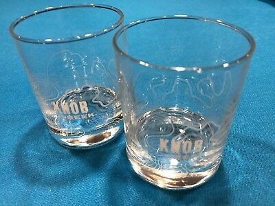 Collectible Advertising 2 Knob Creek Bourbon Weighted Rocks Glasses Logo