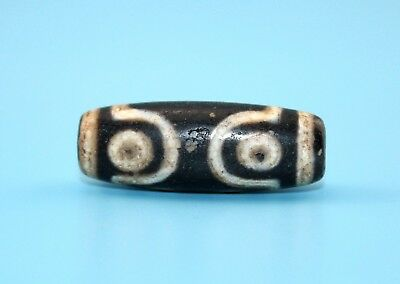 38*14mm Antique Dzi Agate old 7 eyes Bead from Tibet **Free shipping**