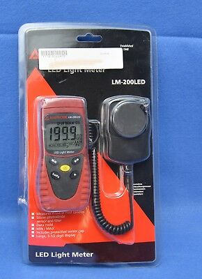 Amprobe LM-200 LED Light Meter Silicon Photodiode and Filter