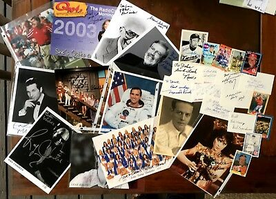 30 Autographed Inscribed Misc Photos/trading cards/index cards - Sports, Movies,