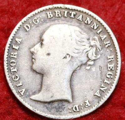 1842 Great Britain 4 Pence Silver Foreign Coin