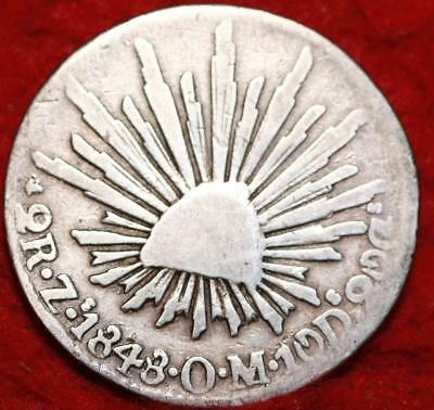 1848 Mexico 2 Reales Silver Foreign Coin