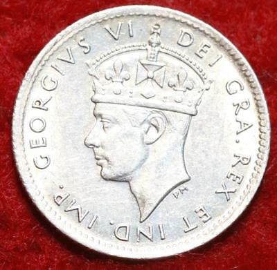 1943-C Newfoundland 5 Cents Silver Foreign Coin
