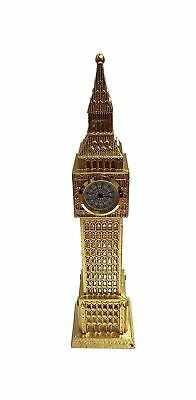 Big Ben Metal Analogue Clock - Golden Colour/Ideal for Kitchen Bedroom Living...