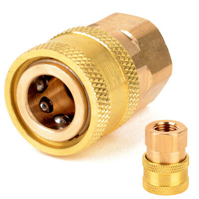 "1/4"" Female NPT Brass Quick Connect Coupler Tool for Pressure Washer 12mm ID"