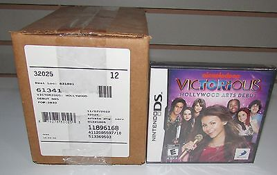 1 Sealed Case of 12 Victorious Hollywood Arts Debut Nintendo DS Wholesale Lot
