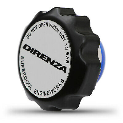 Direnza Universal Black 1.3 Bar Round Radiator Cap Performance Cooling