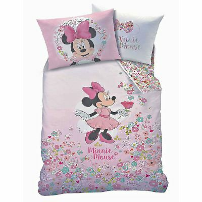 24f6d05fbdf5 OFFICIAL DISNEY MINNIE Mouse Single Duvet Quilt Cover Set Girls Pink ...