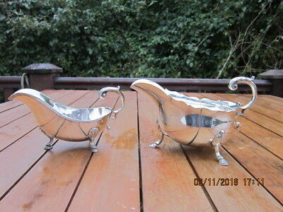 Pair of Vintage Silver Plated Sauce Boats REDUCED TO CLEAR
