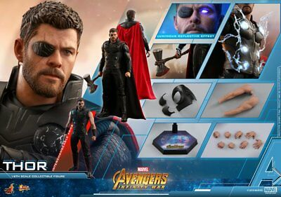 "Hot Toys 1/6 Marvel Avengers Infinity War MMS474 Thor 12"" Movie Action Figure"