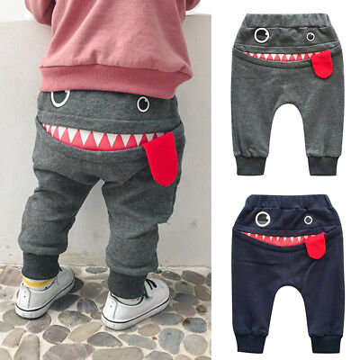 Lively Baby Children Kids Boy Girl Cartoon Shark Tongue Harem Pant Trousers Pant