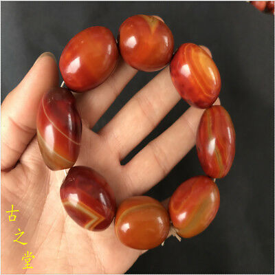 Natural  agate bracelet hand string beads lucky year of fate