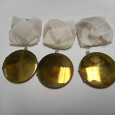 Lot Of 10  Raw Lockets Old Brass New Old Stock 39 Mm Or 1 1/2 Inches Lot Of Ten