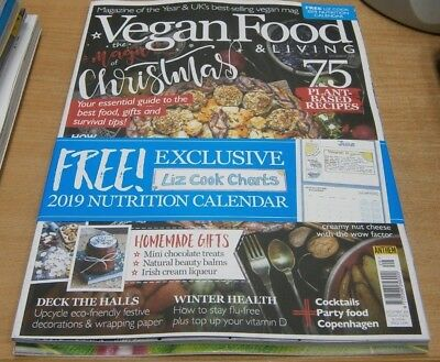 Vegan Food Living Magazine Dec 2018 Liz Cook Charts