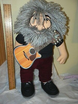 "JERRY GARCIA 18"" Plush Doll & Guitar by Gund Liquid Blue 1998 Grateful Dead"