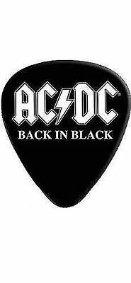 "Ac/dc Plektrum # 7 Guitar Pick Gitarren Plektrum ""back In Black"""