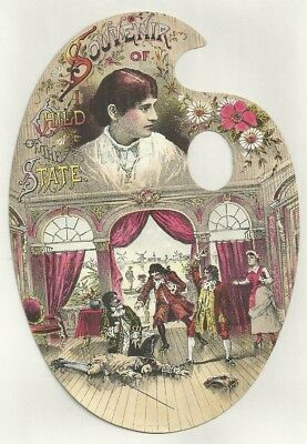 Theater Die Cut Trade Card Souvenir A CHILD OF THE STATE Painters Palate