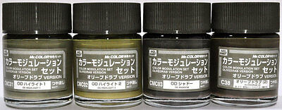 Mr.Color #CS581 Olive Drab Version Color Modulation Set