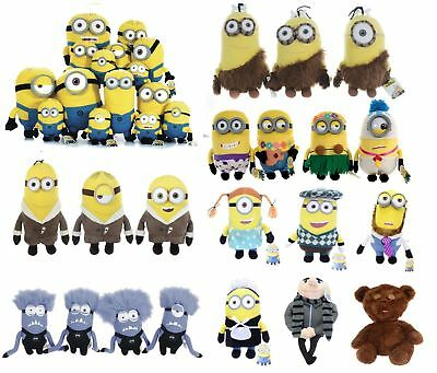 "New 9"" 11"" 13"" Despicable Me Minions Plush Soft Toys Minion Jail Caveman Outfit"