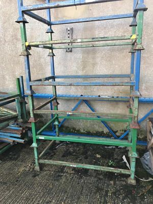 Metal Stillage Open Pallet With 4 Post Stackable Storage Save Space Rust Is Free