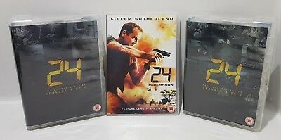 24: The Complete Series - Seasons 1 to 8 + 24 Redemption DVD - Quick UK Dispatch