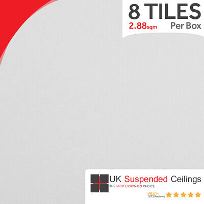 Suspended Vinyl Ceiling Tiles 600 x 600 Laminated Wipeable Easy Clean 595 x 595