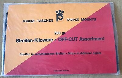 Prinz 200 gr of Black Off-Cut Assortment Strips in Different Heights -Sealed Pkt