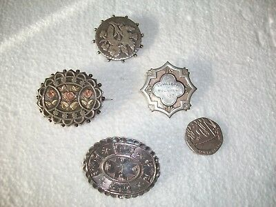 4 x Silver Antique/Vintage Brooches/Pins