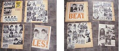 The Beatles Scrapbook Clippings Lot 1960s Beatles Gum Wrapper + More 1960s